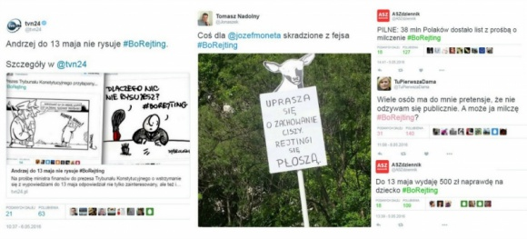 Internauci publikują w social media #borejting
