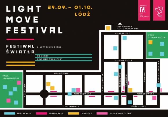 Rekordowa ilość atrakcji w 7. edycji Light Move Festival Sztuka, LIFESTYLE - Już za sześć tygodni centrum Łodzi rozświetli kolejna edycja Light.Move.Festival. Przez wzgląd na pogodę termin festiwalu nieco przesunięto. Siódma edycja rozpocznie się w piątek 29 września, a zakończy w niedzielę 1 października.
