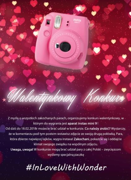 In love with #Wonder. Facebookowy konkurs walentynkowy w Wonder Photo Shop