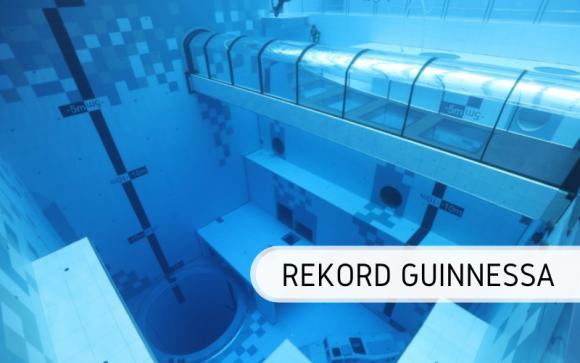 Deepspot - najgłębszy basen do nurkowania już z oficjalnym rekordem Guinnessa Sport, BIZNES - To już oficjalne! Najgłębszy basen do nurkowania w Mszczonowie pod Warszawą oficjalnie ustanowił rekord Guinnessa. Zatwierdzony wynik to aż 45,45 m głębokości!