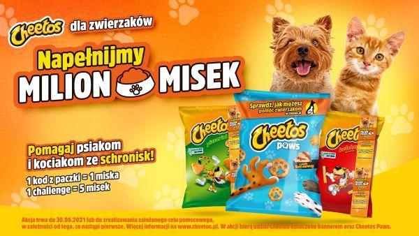 """Milion pełnych misek. W ramach akcji """"Karmimy Psiaki"""" marka Cheetos pomaga zwierzakom"""